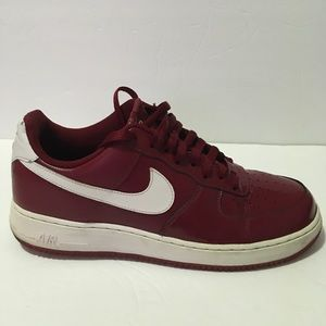 Nike Air Force 1 Maroon/White Patent Leather 10.5